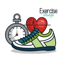 exercise lifestyle icons sport design vector image