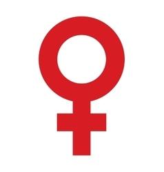 female cross symbol icon vector image