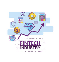 Fintech industry design vector