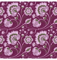 Floral seamless pattern in slavonic style vector image vector image