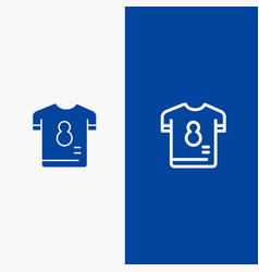 Football kit player shirt soccer line and glyph vector