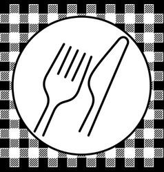 fork and knife retro style vector image