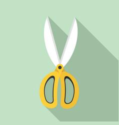 garden scissors icon flat style vector image
