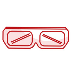 Glasses 3d isolated icon vector