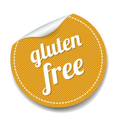 Gluten free label lsolated white background vector