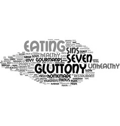 Gluttony word cloud concept vector