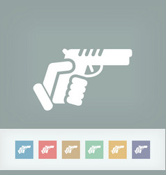Gun icon vector