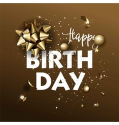 Happy Birthday greeting card template vector
