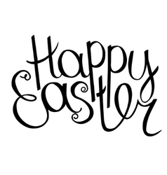Happy easter phrase isolated on white background vector image