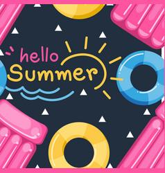Hello summer seamless pattern vector
