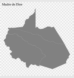 High quality map is a province peru vector