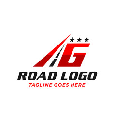 Highway asphalt logo design letter g vector