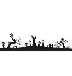 holiday halloween black silhouettes vector image