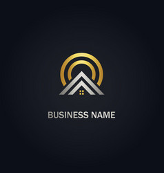 Home realty agent company gold logo vector