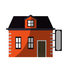 House store with blank sign icon image vector