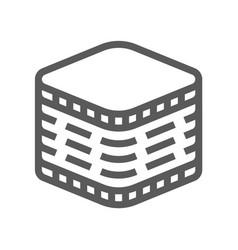 mattress line icon vector image