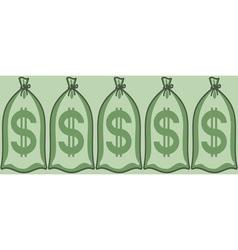 Money bags vector