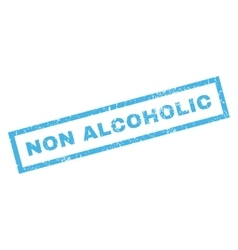 Non Alcoholic Rubber Stamp vector