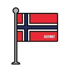 norway patriotic flag isolated icon vector image