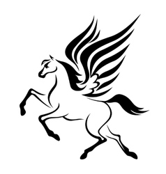 Pegasus horse with wings vector image