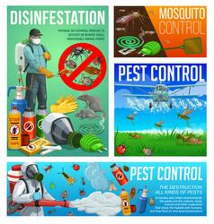 Pest control disinfestation sanitary service vector