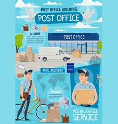 post office and mail fast delivery service vector image