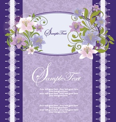 Purple Floral Frame vector image