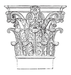 Roman-corinthian capital favorite order was the vector