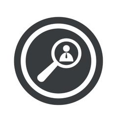 Round black user details sign vector