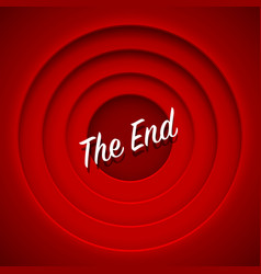 screen movie the end red background vector image