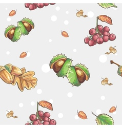 seamless autumnal pattern with image of vector image
