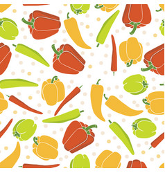 seamless pattern background with peppers vector image