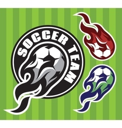 set multi-colored patterns for team sports vector image