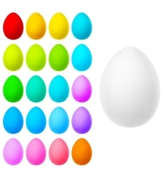 Set of realistic eggs on white EPS 10 vector image