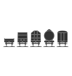 Set railroad cars vector