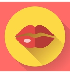 Sexy Lips Icon vector image