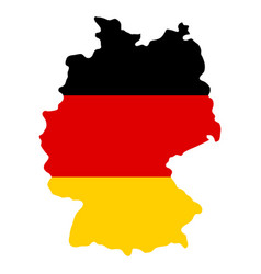 silhouette country borders map of germany on vector image