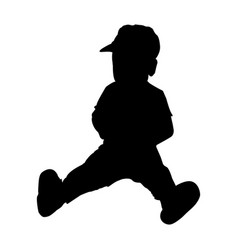 silhouette of baby sitting vector image