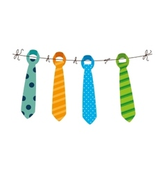 tie male fashion isolated icon vector image