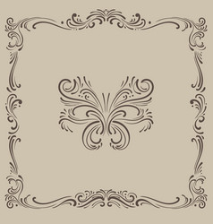Tracery ornament vintage pattern vector