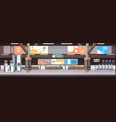 train subway or railway station interior empty vector image