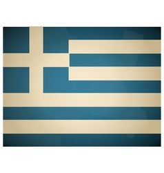 Vintage Greece Flag vector image