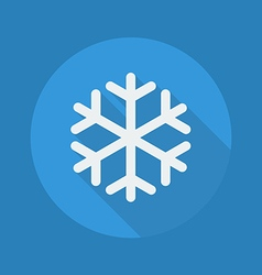 Weather flat icon snowflake vector