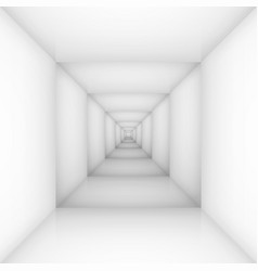 White empty room box for design vector