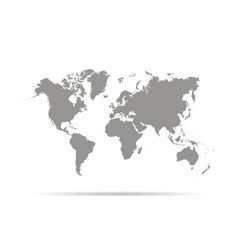 World map with shadow vector