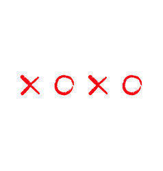 xoxo hugs and kisses sign symbol mark love card vector image