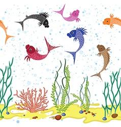 Fish seam vector