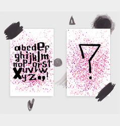 handdrawn grungy font vector image
