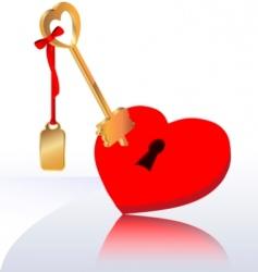 key heart vector image vector image