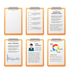 realistic checklist on wooden board isolated on vector image vector image